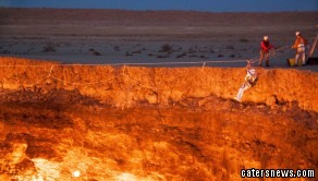 The 44-year-old was part of the first-ever expedition into Turkmenistan's flame pit dubbed the 'Door to Hell'