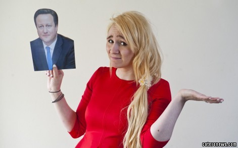 Devon Boon admitted on Facebook she didn't know who David Cameron is