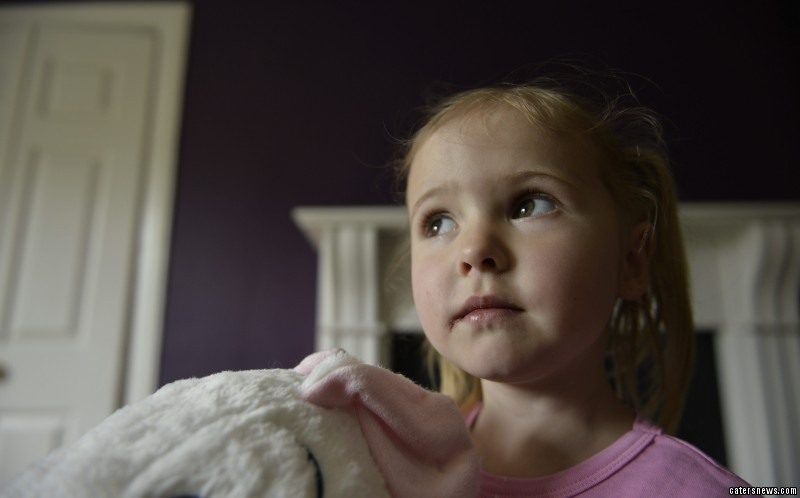 Little Cassara Rodgers waited a staggering 50 hours to receive just three stitches