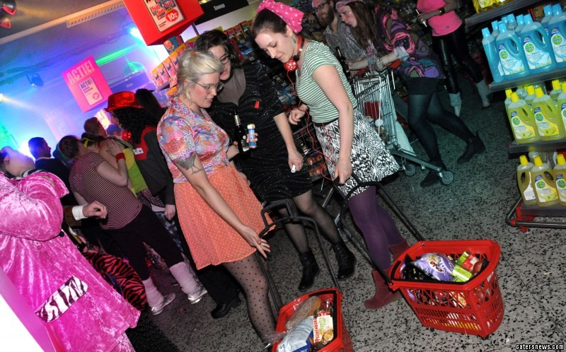 Dirk, a supermarket in Amsterdam, opened its doors to partygoers last month