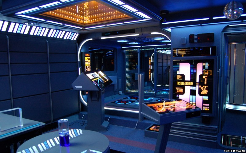 The sci fi fanatic spent thousands of pounds on the Star Trek themed flat