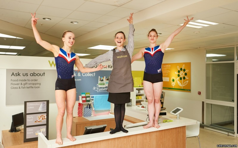 Josie Russell juggles her gymnastic training with working part time for Waitrose in Kingston