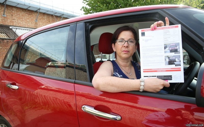 She was in for a shock when a £70 parking ticket was dropped through her door