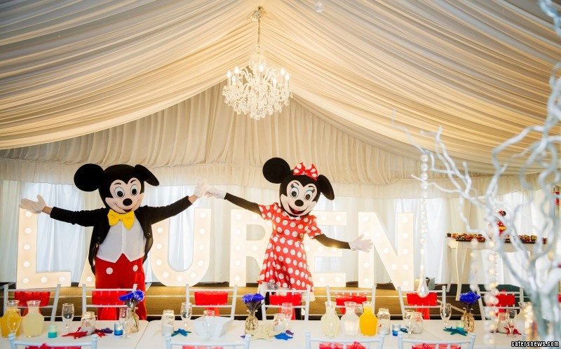 The couple splashed out thousands of pounds on Mickey and Minnie Mouse characters
