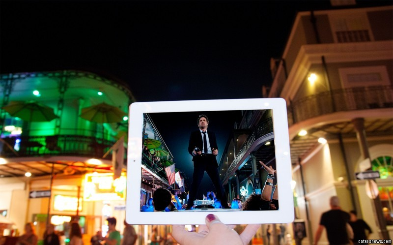 A scene from the film Now You See Me, and its location in real life the French Quarter, New Orleans, Louisiana