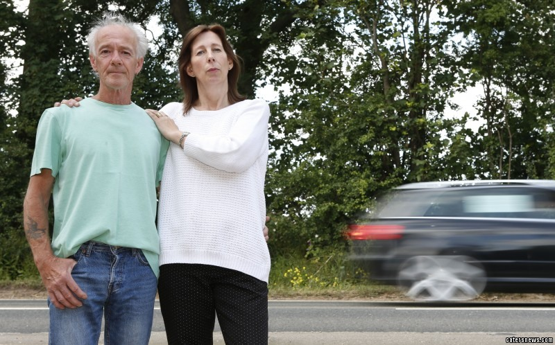 Brian and Alison Pinnock - who lives in potentially Britain's most dangerous house