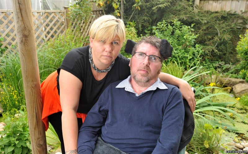 Tracy and Nick Gaskin from Quorn. Nick has MS and is confined to wheelchair