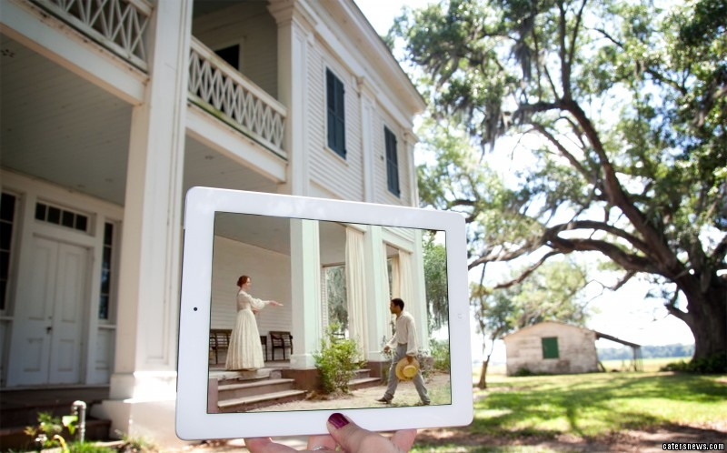 A scene from the film 12 Years A Slave, and its location in real life Felicity Plantation, New Orleans, Louisiana