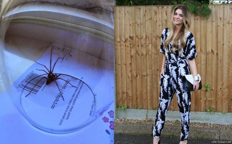 Carelle Mowatt has been left feeling cursed after being bitten by a monster spider