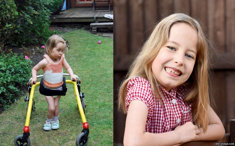 The seven-year-old has seen her wishes come true by finally being made to feel like a princess