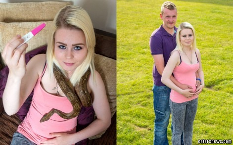 Beckie was baffled when her pet snake started acting oddly whenever he was around her