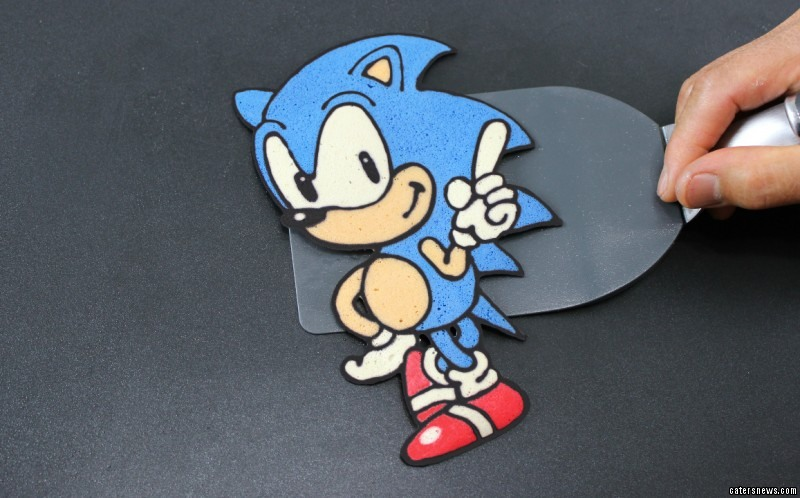 Sonic the Hedgehog pancake