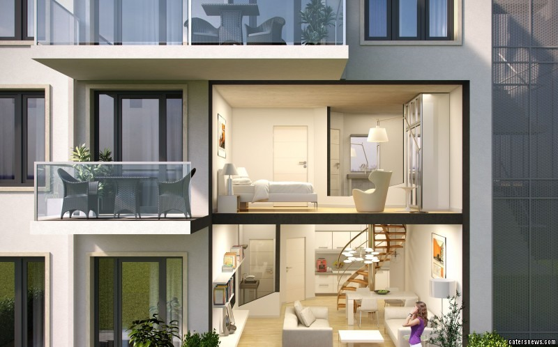 The maisonette design for the Hitler Hotel being turned into luxury apartments