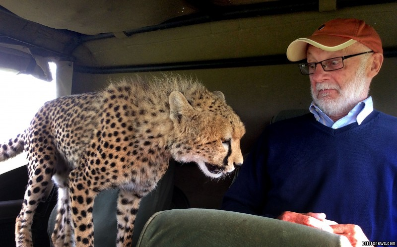 Irish tourist Mickey McCaldin and the cheetah