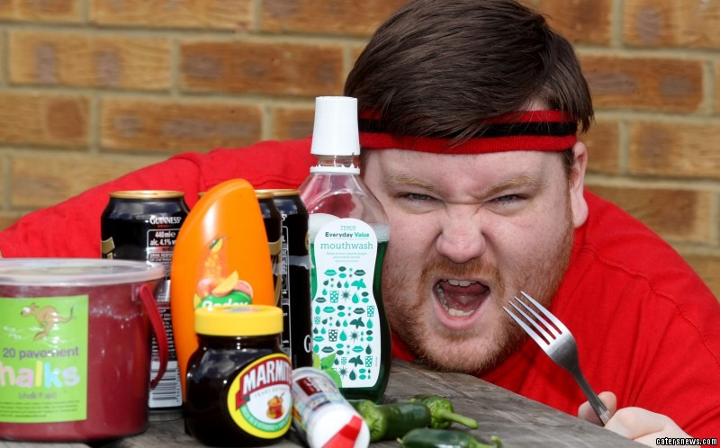Hefty Jon, from Chelmsford, Essex, has taken on hundreds of bizarre food challenges