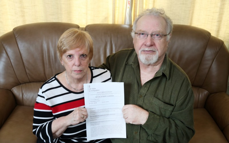 DAVID AND MARIA WITH THE REFUSAL LETTER