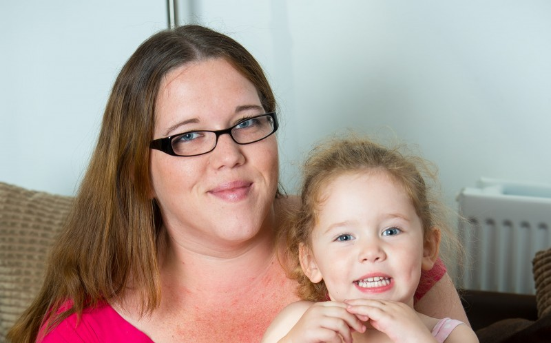 Mum Kate Ovington with daughter Lily Mullins