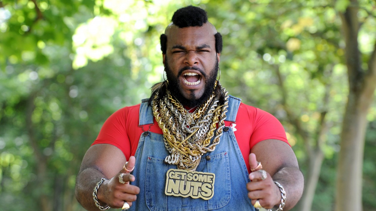 PIC BY SOFIA BOUZIDI/ CATERS NEWS - (PICTURED: John Lashley as Mr T)  -I pity the school! Meet the Mr T lookalike who wont quit his jibba jabba - lecturing students in digital media and design. John Lashley, 34, is a visual effects consultant who lectures in digital media but in his downtime he earns a little extra from his striking resemblance to the popular A Team character. John has even appeared as the popular character on Britains Got Talent and in the televised Snickers adverts but hes never eaten a bar because hes allergic to nuts and chocolate! John, who lives in Northampton, has lectured at Staffordshire University for six years but hits the gym five times a week for over an hour and a half a time to keep himself in shape for the Mr T persona. John, originally from New York, said: I got into Mr. T work by going to an 80s birthday party dressed as him and its spiralled out of control from there. SEE CATERS COPY.