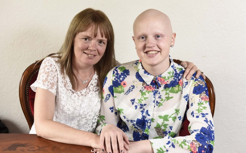 MELISSA SUTTON, 16, WITH HER MUM ALISON