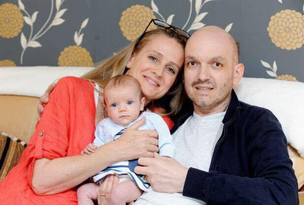Rachel Lewis-Mayhew with her husband Alex Lewis-Mayhew and their 3-month old baby daughter, Augustyna