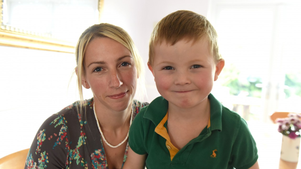 Henry with his mother Laura