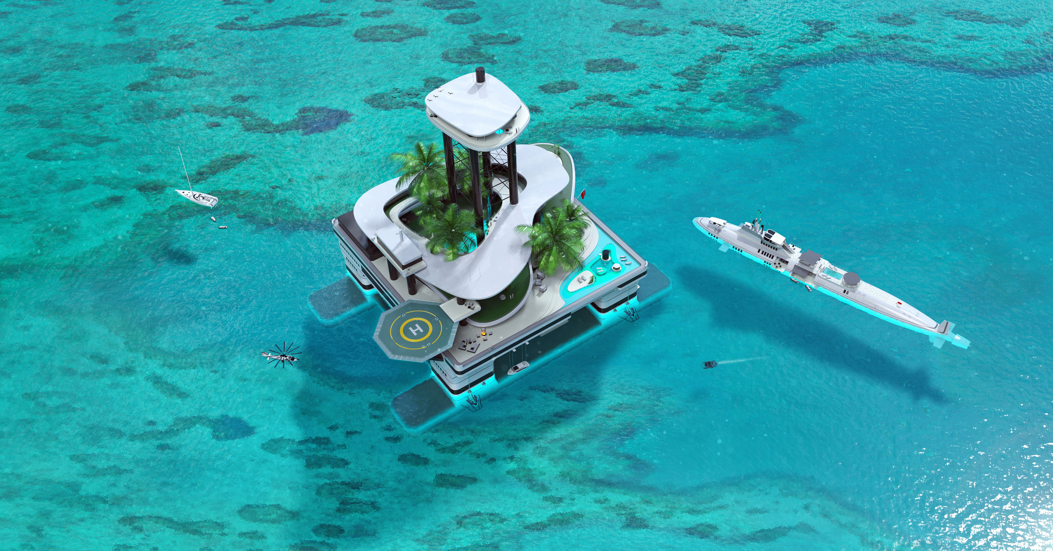 the floating paradise Isla paradiso world featured in: isla paradiso is a world featured in the sims 3: island paradise the town is an archipelago of many islands this town is used to showcase many features of island paradise in its development.