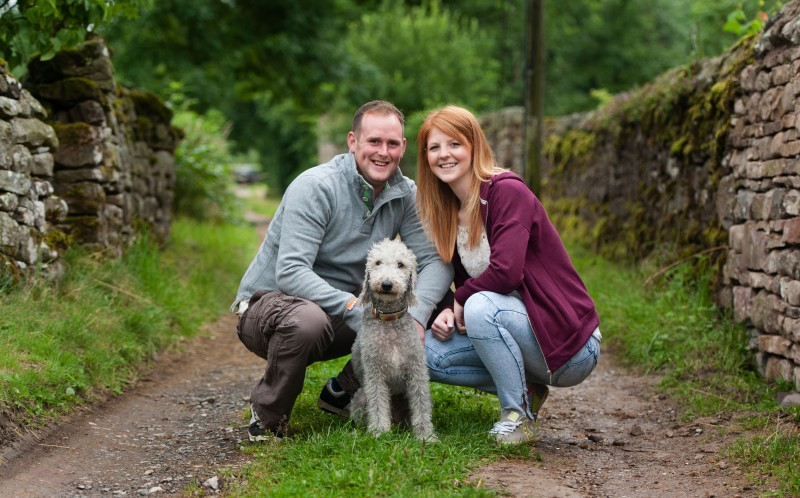 Kate and Wayne with their pooch