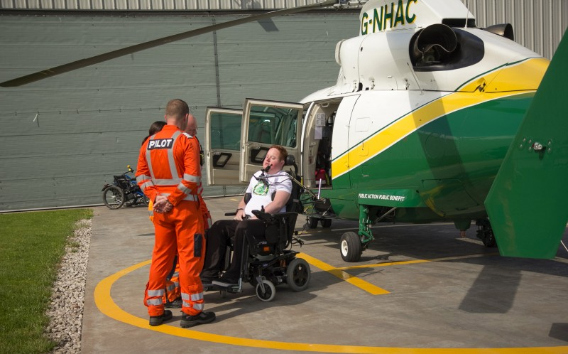 Will Clark meeting the air ambulance