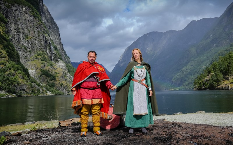 Gustavo and Fanny Bogomolni during their Viking themed wedding