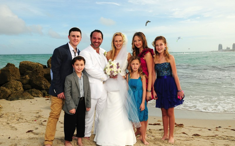 The Bogomolni family on Miami beach in Miami
