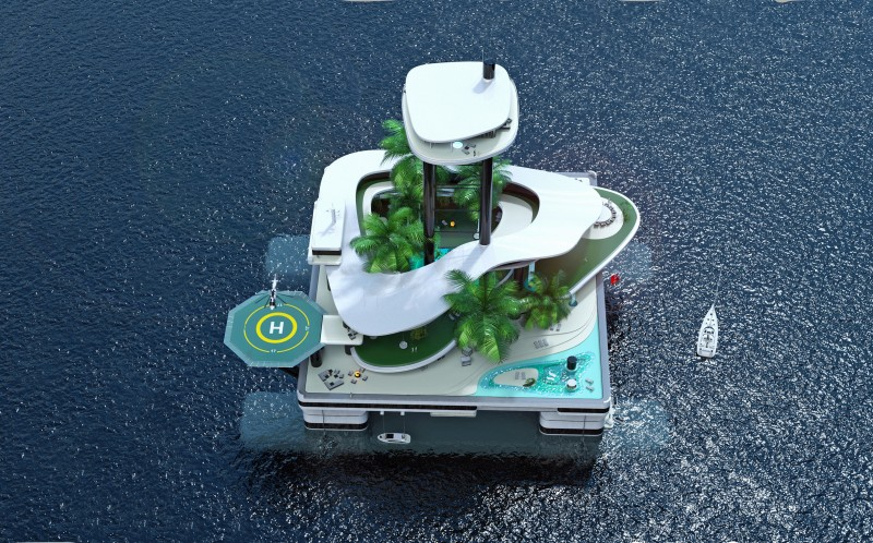 Migaloo Privare Submersible Yachts portable private island