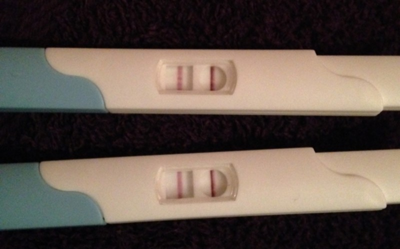 Ambers pregnancy tests, Amber did two tests as she didn't believe the first one
