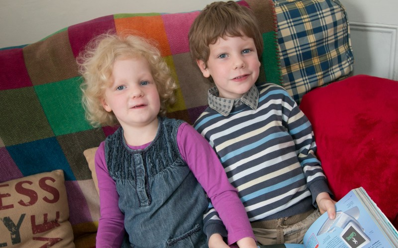 Amberleane, 4 who has an IQ of 145 pictured with her brother Leon who has an IQ of 150