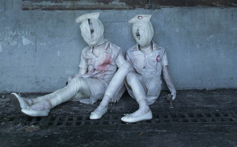 A CHILD DRESSED AS SILENT HILL CHARACTERS