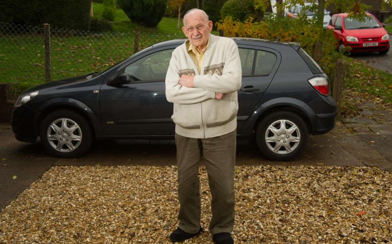 Former POW and survivor of Auschwitz Ron Jones from Newport is faced with giving up driving as his insurance premium has risen to 20,000