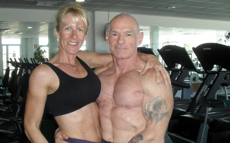 Pamela and Ray at the gym together