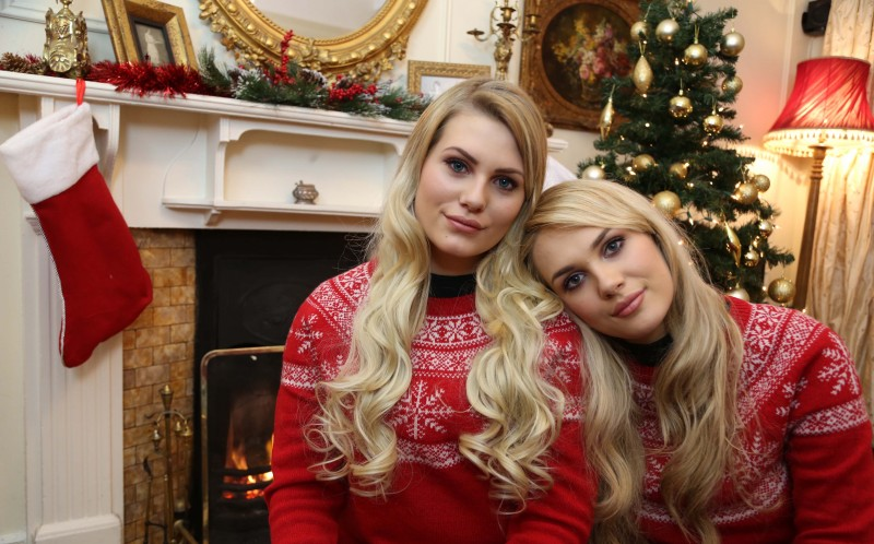 Shannon Lonergan, 21, from Ireland (left) and Sara Nordstrom, 17, from Sweden (right)