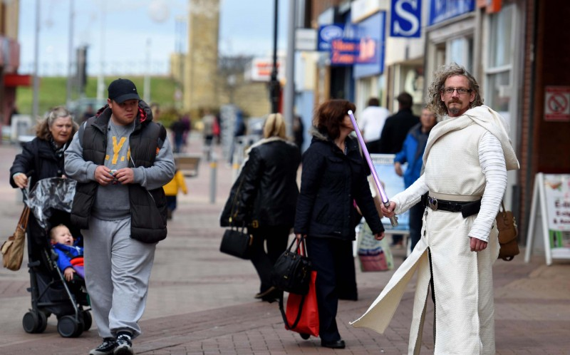 Kevin Cottam, 45, a real-life full-time Jedi