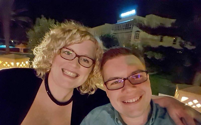 Lee and Anne Turnock on holiday in Tunisia
