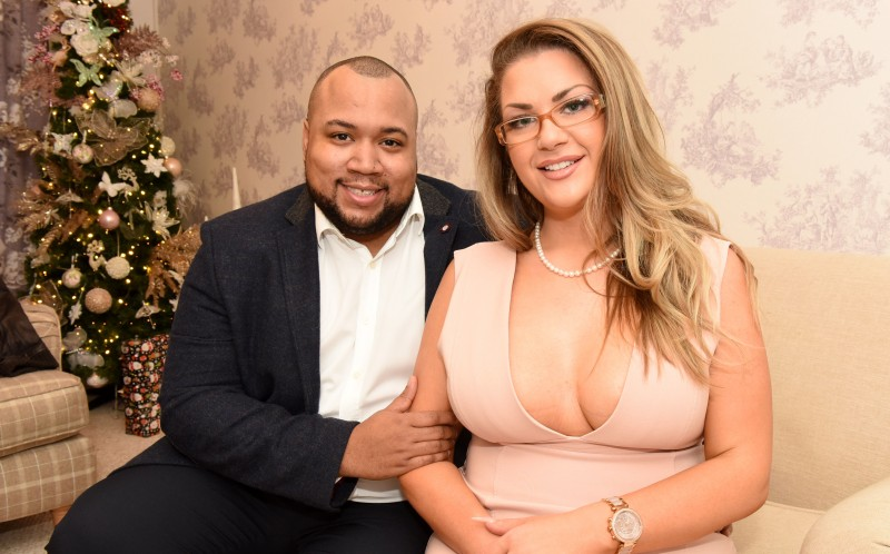 Chantelle Harris and husband-to-be Marlon Powell, 30