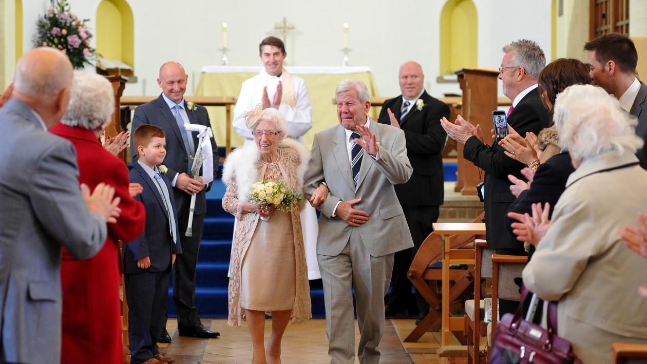 Are these Britain's oldest newlyweds? Loved-up couple with ...