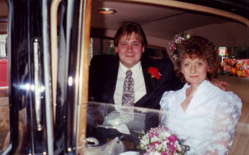 Paul 22 and Carole 47 on their wedding day in 1994