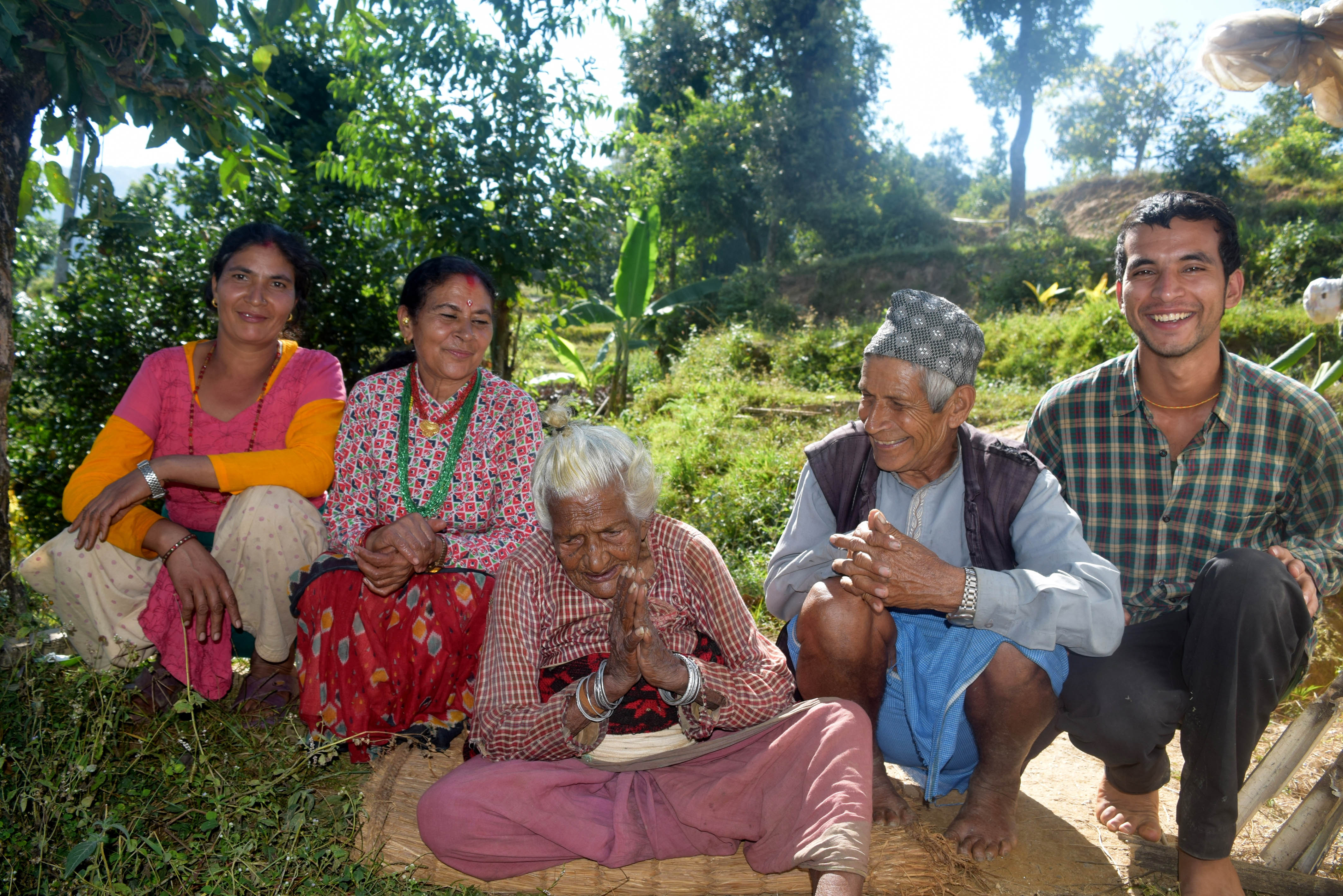 Batuli Lamichhane with her family