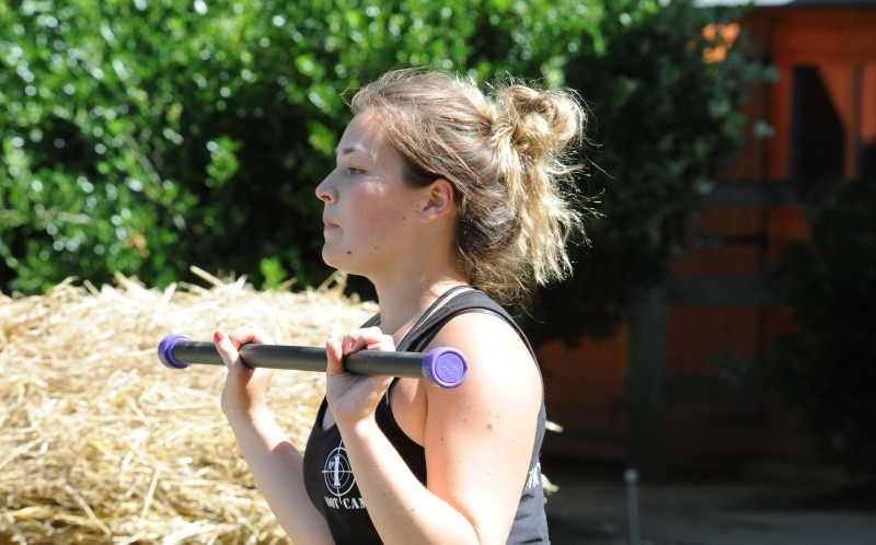 Sophie Winter at the fitness boot camp in Norfolk