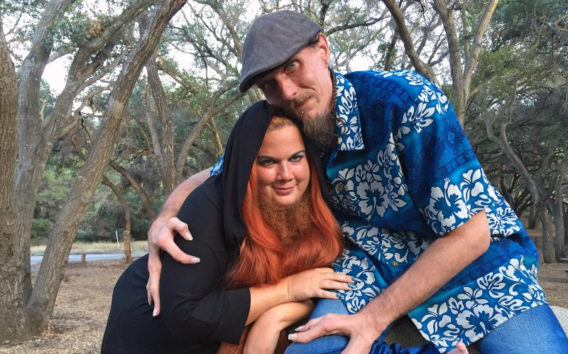 PIC BY VENICE BEACH Jessa The Bearded Lady Olmstead and her boyfriend, Grady Stilll III, The Lobster Boy