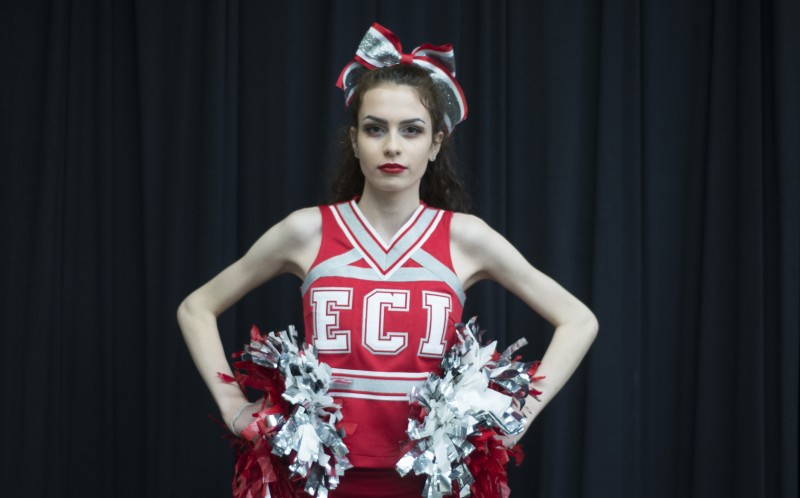 Phoebe Cesinaro poses for a portrait at Eastwood Collegiate Institute