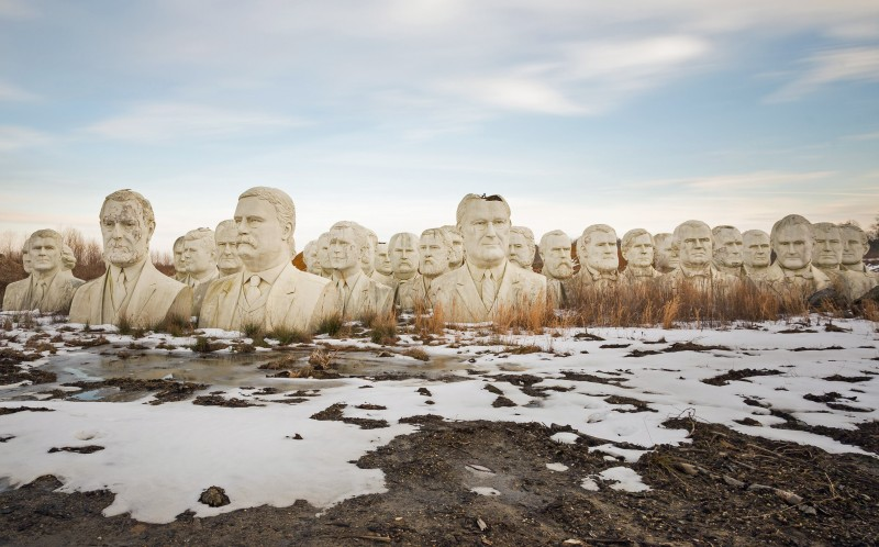 The presidential busts