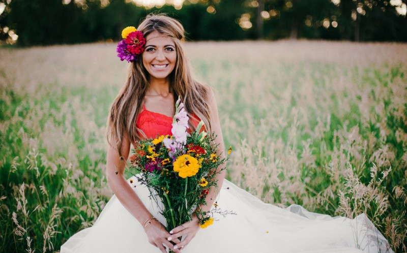 Conner Rensch today on a bridal photo shoot