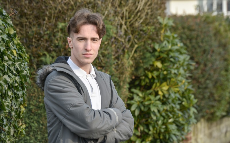 Christian Blundell, 17 from Sutton Coldfield stepped in to help a pregnant woman who was being stabbed in the street