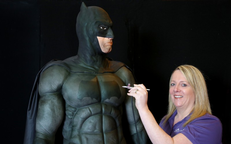Rose putting the finishing touches on Batman